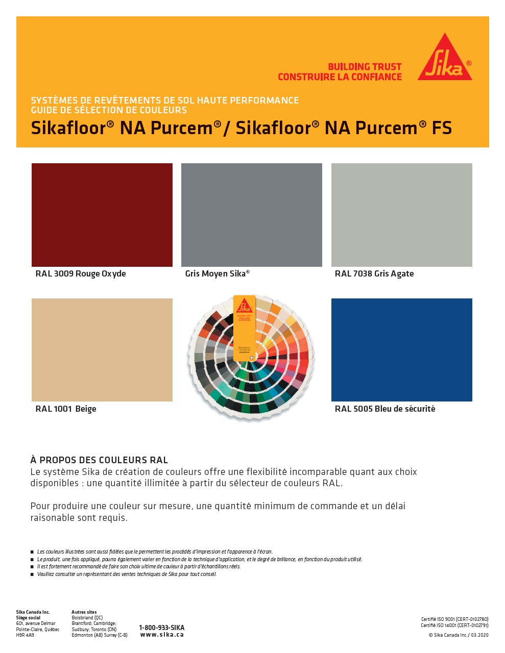 Guide de couleurs - PurCem FS