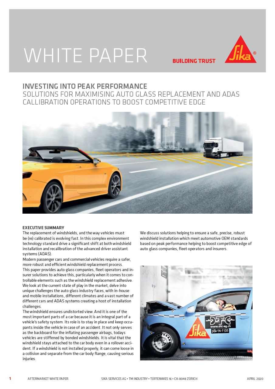 Solutions for Maximizing Auto Glass Replacement and ADAS Calibration Operations to Boost Competitive Edge